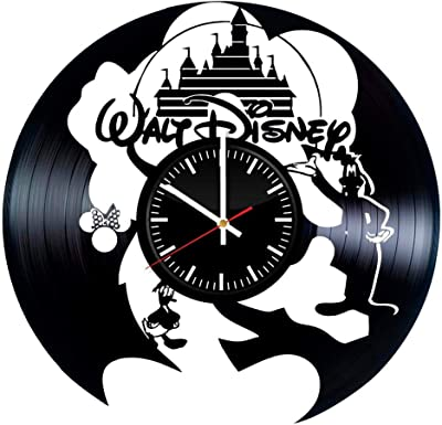 Victory Gifts Store Walt Disney Ornament Vinyl Record Wall Clock – Unique Gift for Kids and