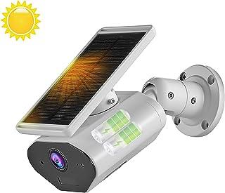 Cámara de Seguridad con energía Solar para Exteriores cámara de Seguridad inalámbrica para el hogar CTVISON 2.4GHz WiFi/detección de Movimiento/Audio bidireccional para Android e iOS