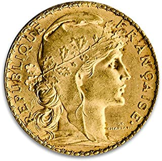 FR French Gold 20 Franc Rooster Coin (BU, Dates Vary) 20 Franc BU