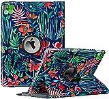 Fintie Hülle für iPad 10.2 Zoll 9.Generation / 8. Gen / 7. Gen (Modell 2021/2020/2019) mit Pencil Halter - 360 Grad Rotierend Stand Schutzhülle Cover mit Auto Schlaf/Wach Funktion, Dschungelnacht