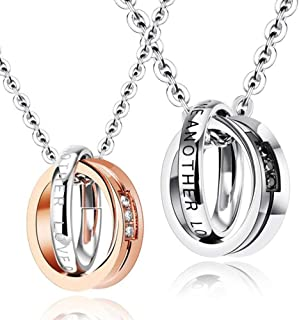 3f066d914f Gullei.com His and Hers Matching Engravable Couples Necklaces
