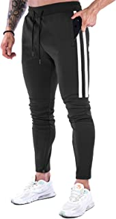 MakingDa Mens Tracksuit Bottoms Gym Joggers Trousers Slim Fit Pockets Causal Running Pants Sweatpants for Work Out Sports ...