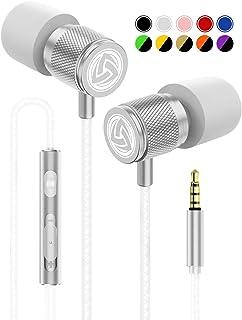 Ecouteur Intra Auriculaires – LUDOS Ultra Écouteurs avec Microphone et Contrôle..