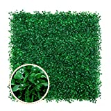 Artificial Boxwood Panels - 12 PCS Faux Boxwood Mats Hedges Plants, UV Protected Greenery Wall Backdrop for Outdoor Garden Fence Privacy Screen and Indoor Wall Decor