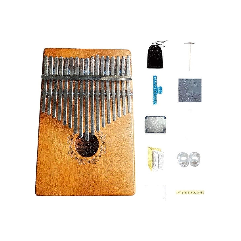 九月担保摩擦親指ピアノ、17キーのポータブルカリンバ、初心者のポータブル機器に最適、家族や友人への最高の贈り物