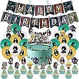 Anime Theme Birthday Party Decoration Cake Topper Party Decorations Anime Party Supplies Set