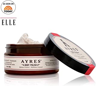 AYRES Midnight Tango Natural Apricot Seed Powder Body Polish   Body Scrub   Exfoliant with jojoba oil & aloe vera 7.25 oz. (208ml)   Infused with pure essential oils   Made in the USA   Cruelty Free