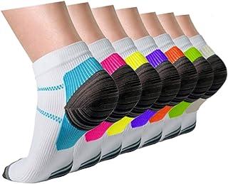 Compression Socks Plantar Fasciitis for Women Men (3/5/7 Pairs),8-15 mmhg Athletic Sock Arch Support Flight Travel Nurses