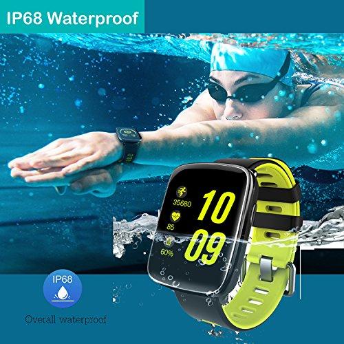 Willful Montre Connectée Femmes Homme Enfant Smartwatch Podometre Cardio Bracelet Connecté Etanche IP68 Cardiofréquencemètre Sport Tracker d'Activité Chronomètre pour Android iOS Samsung Xiaomi Huawei