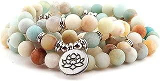 8mm 108 Mala Beads Wrap Bracelet Necklace for Yoga Charm Bracelet Natural Gemstone Jewelry for Women Men