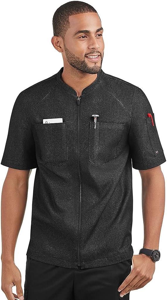 Men's Denim Zip Front Chef Coat