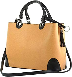 FLORENCE LEATHER MARKET Borsa donna a mano con tracolla in pelle 32x12.5x23 cm - Irma - Made in Italy