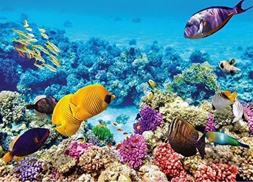 Puzzle 1000 Teile für Erwachsene, Undersea World, Impossible Puzzle, Geschicklichkeitsspiel für die ganze Familie (Blau)