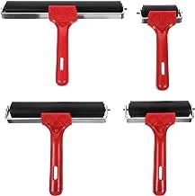 Baluue Rubberen Roller Inkt Roller 4 Stks Brayer Rollers Voor Printmaking Behang Inkt Verf Blok Stempelen Diy Art Ambachte...