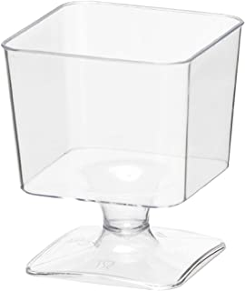 Party Essentials Miniware Mini Plastic Appetizer/Dessert Cups, Clear