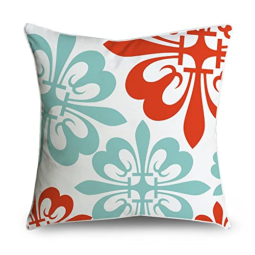 Teal and Red Throw Pillows: Amazon.com