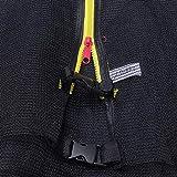 Xarxes de seguretat per a trampolí unisex, malla envolupant de recanvi amb cremallera i sivella de seguretat (només xarxa), caixa forta per a dits petits, ∅*244cm | per a llits elàstics de 6 pals
