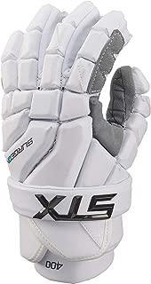 STX Lacrosse Surgeon 400 Gloves, Medium, White