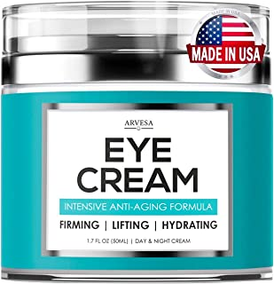Premium Eye Cream for Women - Effective Under Eye Cream for Wrinkles with Retinol, Hyaluronic Acid, Vitamin E, Aloe Vera - Anti Aging Cream for Dark Circles, Under Eye Bags and Puffiness