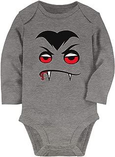Tstars - Halloween Easy Costume Vampire Face Baby Long Sleeve Bodysuit