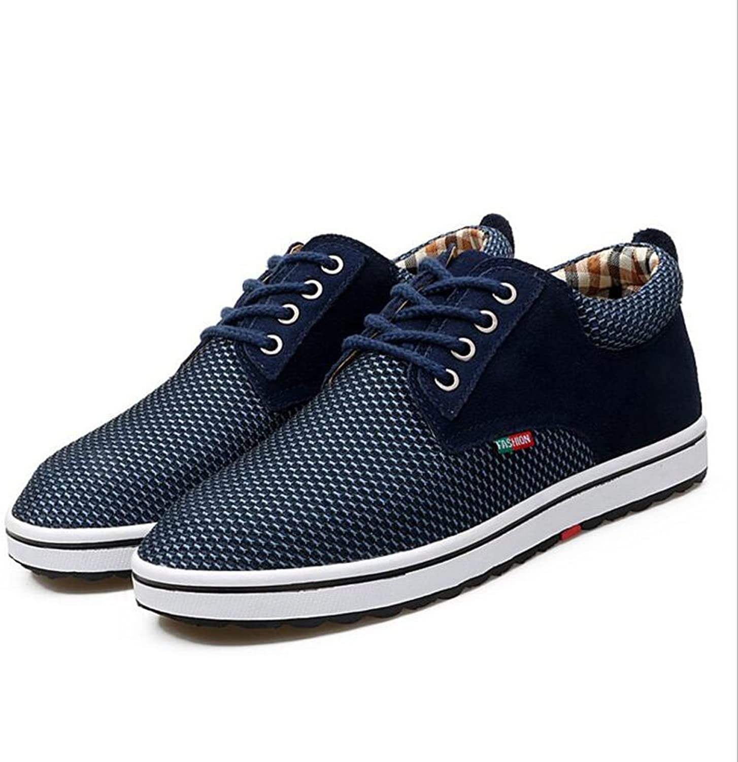 LXMEI Mens Mesh Running Trainers Athletic Walking Gym shoes Sport Mens Up Casual shoes 4 colors