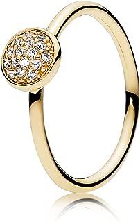 Pandora Dazzling Droplet 14k Yellow Gold Ring, Size: US-9, EUR-60-150187CZ-60