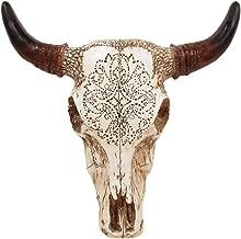 TreasureGurus, LLC Southwestern Tooled Steer/Bull/Cow Skull and Horns