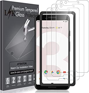 [3 Pack] LK Screen Protector for Google Pixel 3, Tempered Glass [HD-Clear][Easy Installation] with Lifetime Replacement Warranty