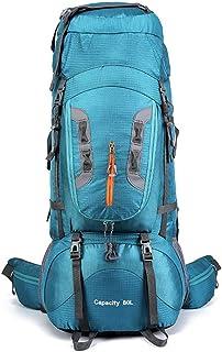 Mochilas 80L de gran capacidad Montañismo bolsa de excursión que acampa al aire libre Mochila impermeable resistente al desgaste mochila de nylon Para el campamento itinerante Montañismo Viajes