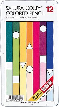 サクラクレパス クーピー色鉛筆 12色 PFY12