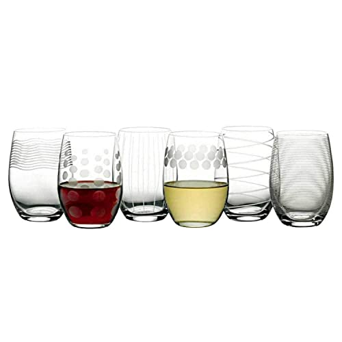 a6f676c4381 Mikasa Cheers Stemless Etched Wine Glasses