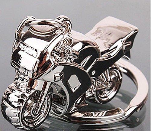 Sportigo® Motocicleta Llaveros en de color plata / motocicleta Moto Biker regalo