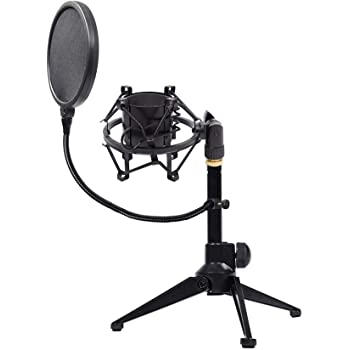 Rockville GIGSTAND DUAL Microphone Stand with 2 Mic Clips and Detachable Boom