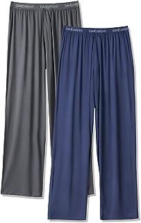 DAVID ARCHY Men's Bamboo Rayon Long Pajamas Pants Loungewear Sleep Bottoms 2 Pack