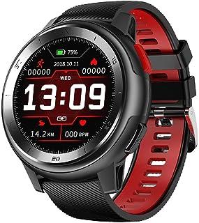 1.2 pulgadas smartwatch touch color pantalla de actividad rastreador IP68 conexión impermeable APP recordatorio con distancia podómetro al aire libre deportes al aire libre hombres reloj remoto foto s
