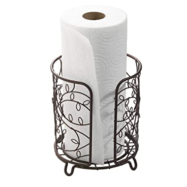 iDesign Twigz Steel Free-Standing Paper Towel Holder - 7.5  x 7.5  x 8 , Bronze