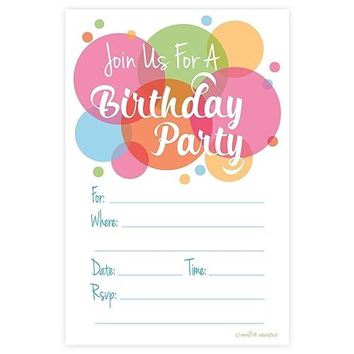 Happy Dot Birthday Party Invitations