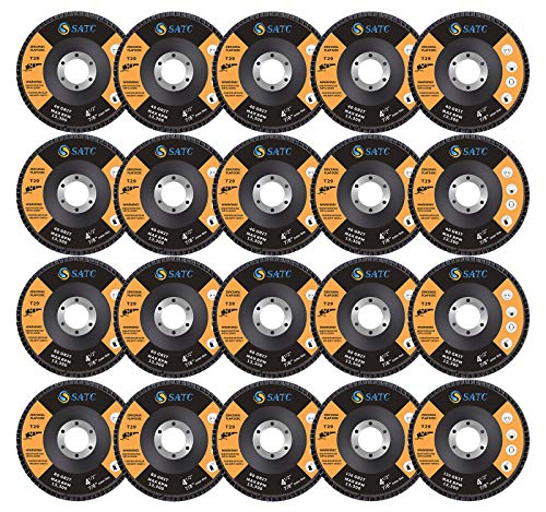 S SATC 20 Pack Flap Discs 40/60/80/120 Grit Grinding Wheel 4.5