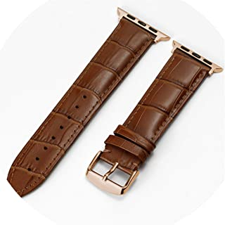 Watch Accessories Calf Genuine Leather Strap Compatible for Watch Band 42Mm 38Mm Series 4/3/2/1 44Mm 40Mm Watchband