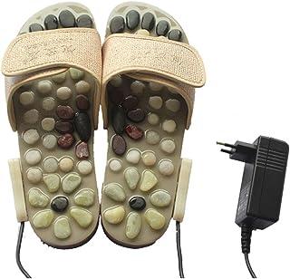Foot Massage Acupressure Slippers, Reflexology Foot Slipper,Massage Sandals Shoes Feet Massager Slippers for Women Men,White,37