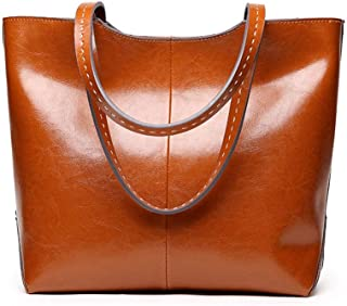 Runhuayou New Fashion Childlike Multi-Function Prominent Capacity Shoulder Bag Shoulder Slung Leather Handbag Great for Casual or Many Other Occasions Such (Color : Brown)