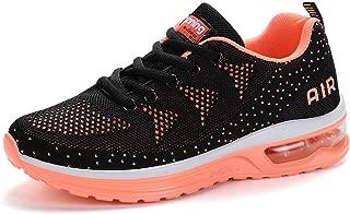 RUMPRA Women Sneakers Lightweight Air Cushion Gym Fashion Shoes Breathable Walking Running Athletic Sport(Orange,41)