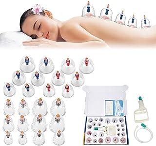 Semme Masaje Ventosa 24 Copa de Vacio Anticelulitico SPA Ahuecamiento masajeador vacio de Cuerpo Espalda Cuello músculos para Alivio Dolor de Recuperación de Lesión Tonificación Cuidado de Belleza