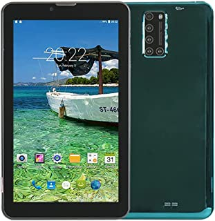 ATOUCH X12 Android Tablet 128GB, 4GB RAM 7 inch IPS HD Display, Dual SIM, 4G, Quad Core Bluetooth Wi-Fi Tablets (Green)