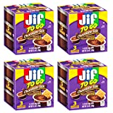 Jif To Go Chocolate Silk Peanut Butter Cups,3 individual 1.5oz. cups per box:Pack of 4 Boxes for a...