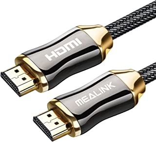 MEALINK ハイスピードHDMIケーブル 5M HDMI 2.0規格 28AWG銅導体 ナイロン編み 金属シャルコネクター イーサネット/ARC/4K/2160P/フルHD/1080p/3D/Xbox/PS3/PS4/PC/Apple TVなど対応