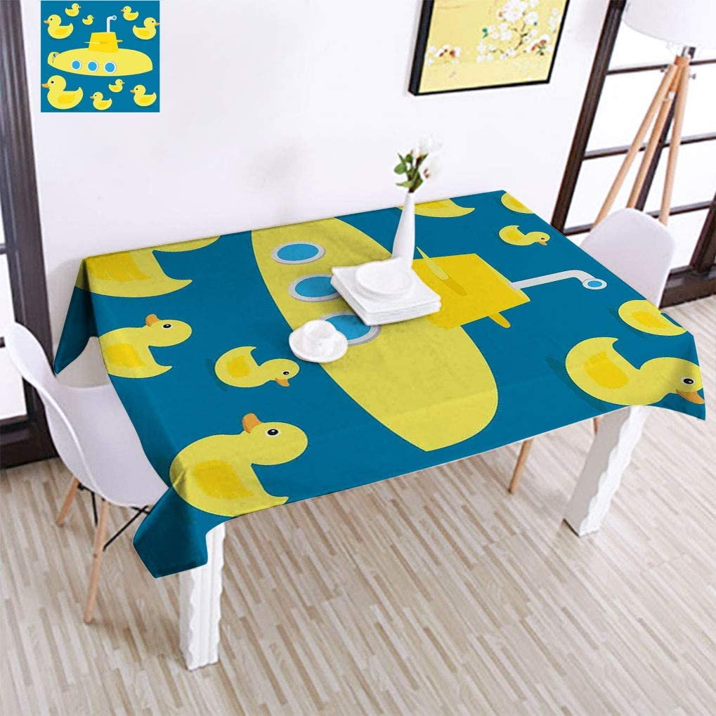 Lakabara Rubber Sacramento Mall Duck Spill-Proof Tablecloth Max 78% OFF in Duckies Swimming
