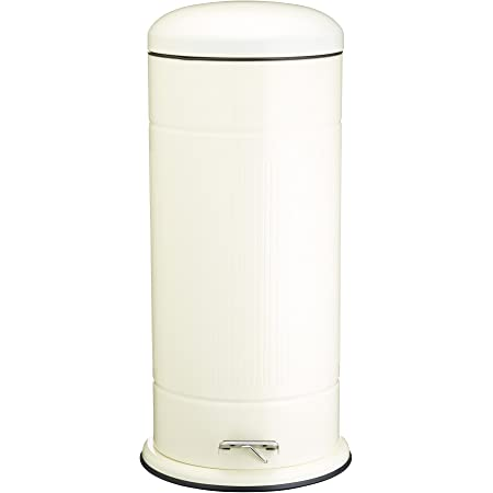 Charles Bentley Dome Cocina Papelera de Pedal en Mate Plata Mediano con Tapa de Cierre Suave y Interior de Pl/ástico Extra/íble 30L
