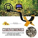 Détecteur de fond d'écran LCD profond détecteur de métaux souterrain haute sensibilité (couleur: jaune)