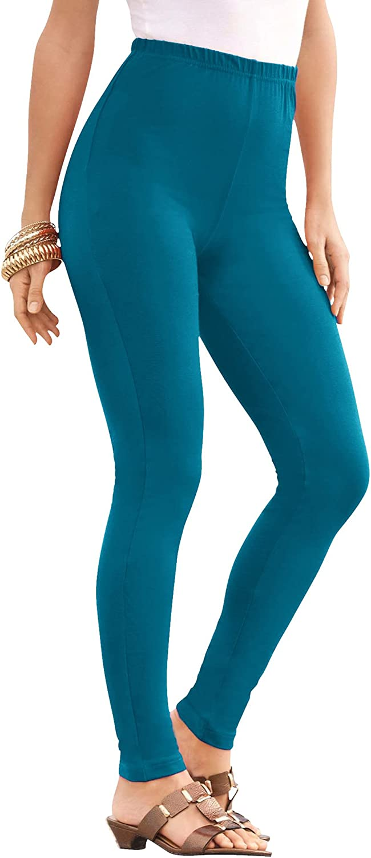 Roamans Women's Plus Size Ankle-Length Essential Stretch Legging Activewear Workout Yoga Pants